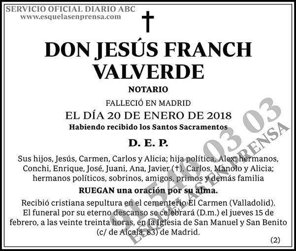 Jesús Franch Valverde